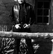 Johnny Cash Gunfighter Hitching Post Old Tucson Arizona 1971 Art Print