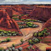 Junction Canyon De Chelly Art Print
