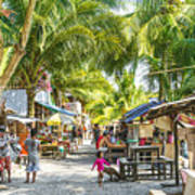 Koh Rong Island Main Village Bars In Cambodia Art Print