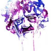 Kurt Vonnegut Art Print by Alexandra-Emily Kokova