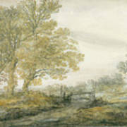 Landscape With Trees Art Print