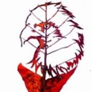 Leafcarving Art Print