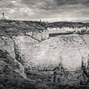Lighthouse And Cliffs Art Print
