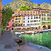 Limone Sul Garda Turquoise Harbor Panoramic View Art Print