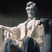 Lincoln Memorial: Statue Art Print by Granger