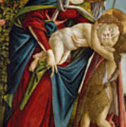 Madonna And Child And The Young St John The Baptist Art Print