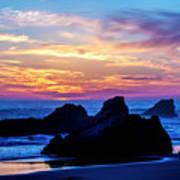 Magical Sunset - Harris Beach - Oregon Art Print