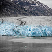Magnificent Sawyer Glacier At The Tip Of Tracy Arm Fjord Art Print
