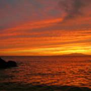 Makena Sunset Art Print