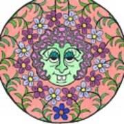 Goofy Green Witch Art Print