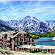 Many Glacier Hotel Art Print