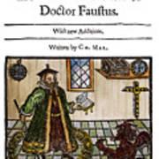 Marlowes Doctor Faustus Art Print