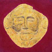 Mask Of Agamemnon Art Print