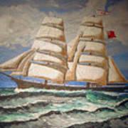 2 Master Tall Ship Art Print
