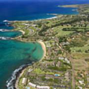 Maui Aerial Of Kapalua Art Print