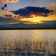 Mcintosh Lake Sunset Art Print