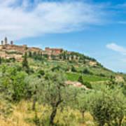 Medieval Town Of San Gimignano, Tuscany, Italy Art Print