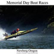 Memorial Day Boat Races Art Print