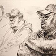 Men At Cafe Art Print