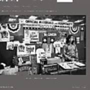 Merchandise George Mcgovern For President Democratic Nat'l Convention Miami Beach Florida 1972 Art Print