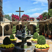 Mission Inn Chapel Courtyard Art Print