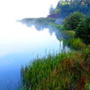 Misty Morning Big Ditch Lake Art Print
