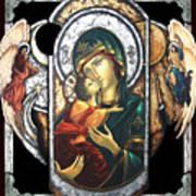 Mother Of God Art Print by Iosif Ioan Chezan