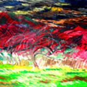 Mt. Norwottuck And Apple Trees Art Print