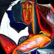 Mystery Woman Art Print by Pilar  Martinez-Byrne