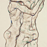 Naked Girls Embracing Art Print