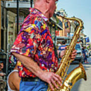 New Orleans Jazz Sax  Art Print