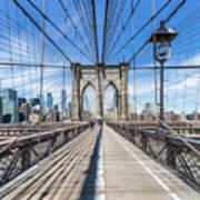 New York City Brooklyn Bridge Art Print