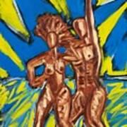 2 Nude Dancers Art Print