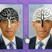 Obama Trees Of Knowledge Art Print