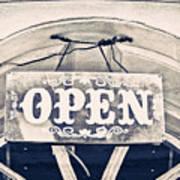 Open Sign Art Print