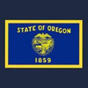 Oregon Flag Art Print