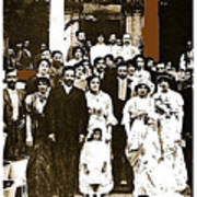 Pancho Villa's Wedding To Luz Corral On May 29 1911-2013 Art Print