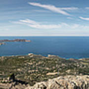 Panoramic View Across Calvi Bay And Revellata In Corsica Art Print