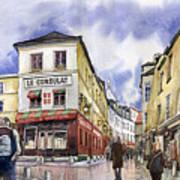 Paris Montmartre  Art Print by Yuriy  Shevchuk