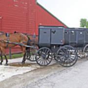 Amish Parking Lot Art Print