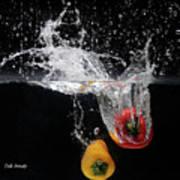2 Pepper Splash Art Print