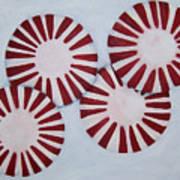 Peppermint Twist Art Print by Penny Everhart