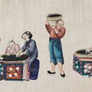 Portraying The Chinese Tea Industry Art Print