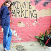 Private Parking. Art Print