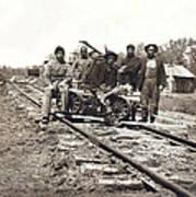 Railroad Workers Art Print