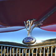Red Ford Hotrod Art Print
