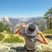 Relaxing At Glacier Point Art Print