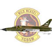 Republic F-105g Thunderchief 561tfs Art Print