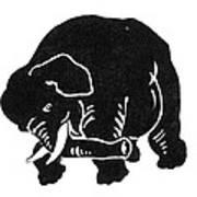 Republican Elephant, 1874 Art Print