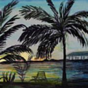 Roatan Sunset Art Print